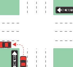one way left turn example 1