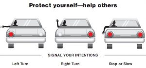 hand signaling while driving illustration